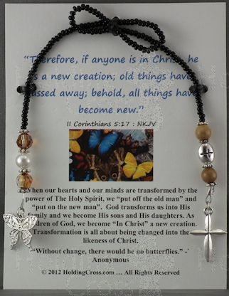 BM : Butterfly - A New Creation in Christ : BookMarker